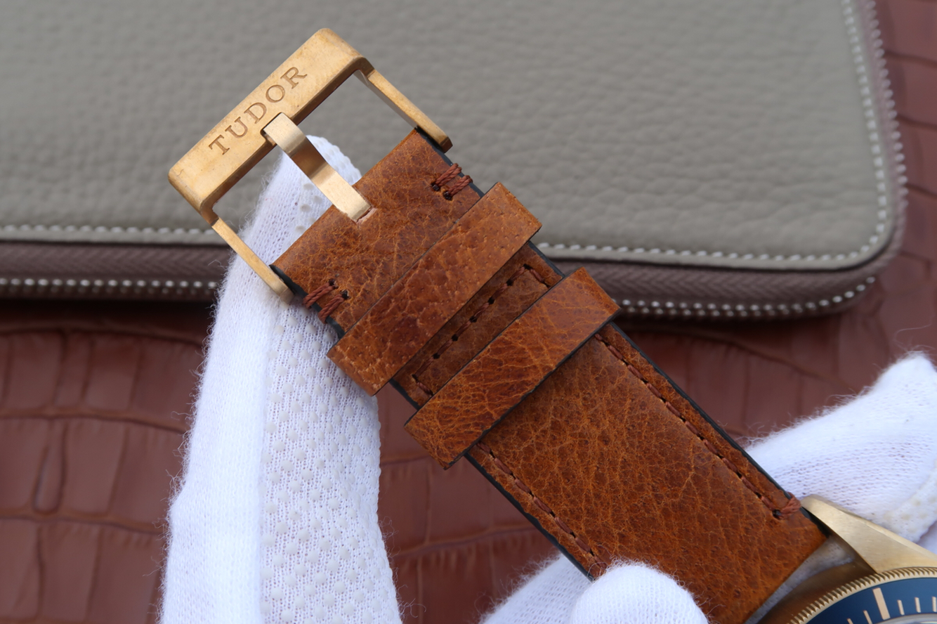 Replica Tudor Bronze Brown Leather Strap