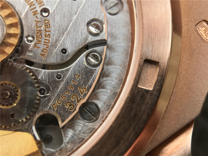 Patek 324 Golden Engraving