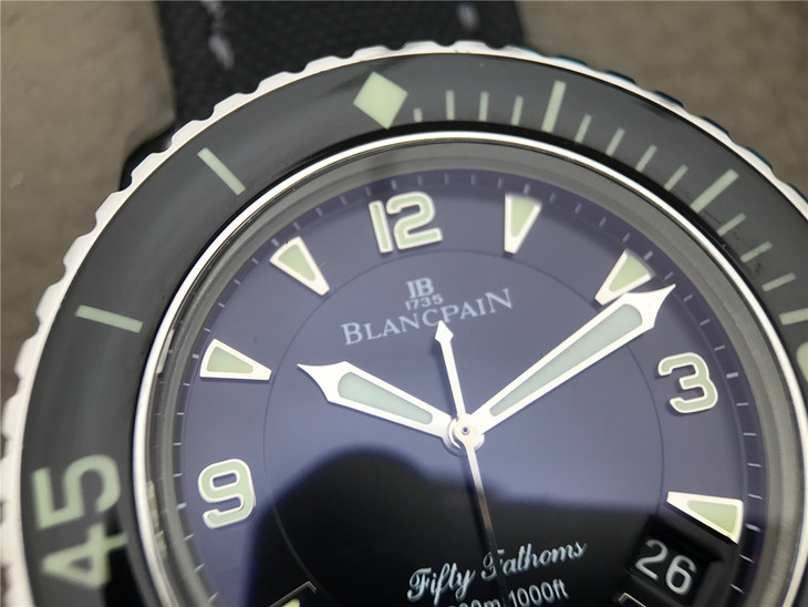 Replica Blancpain Fifty Fathoms Black Dial