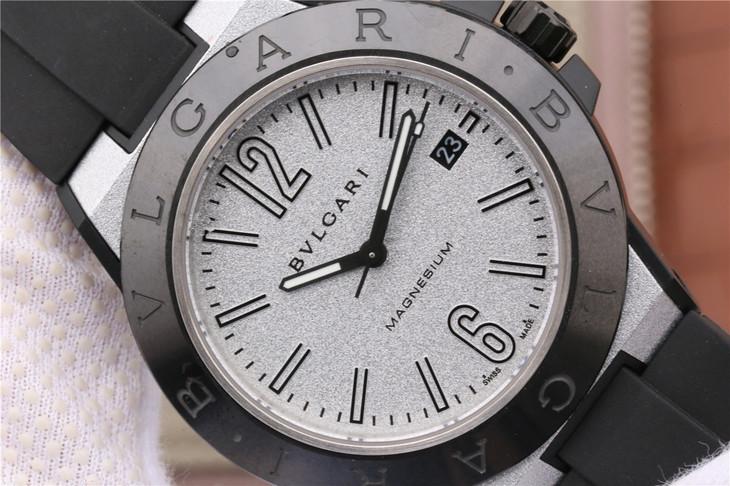 Replica Bvlgari Diagono Magnesium Silver Grey Dial