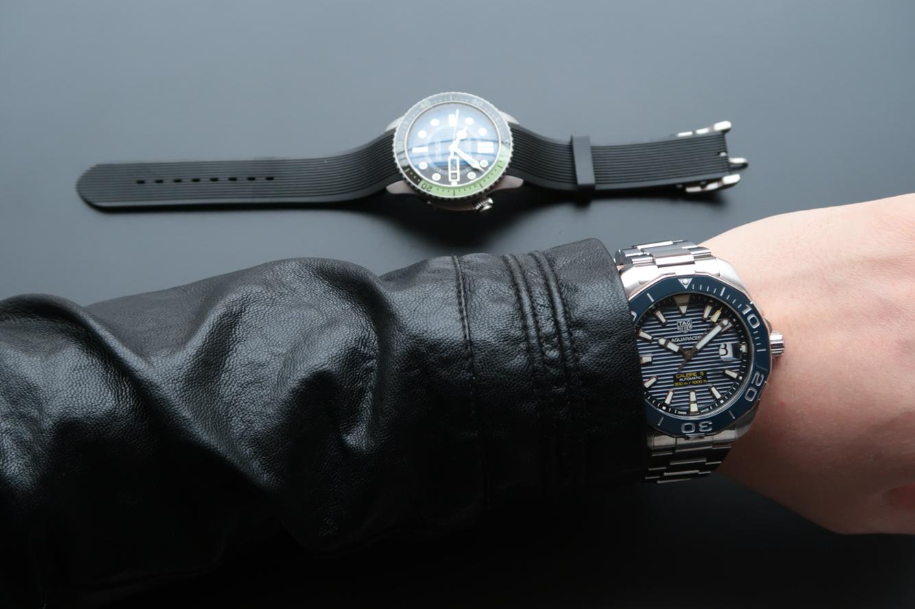 Replica Tag Heuer Aquaracer Wrist Shot