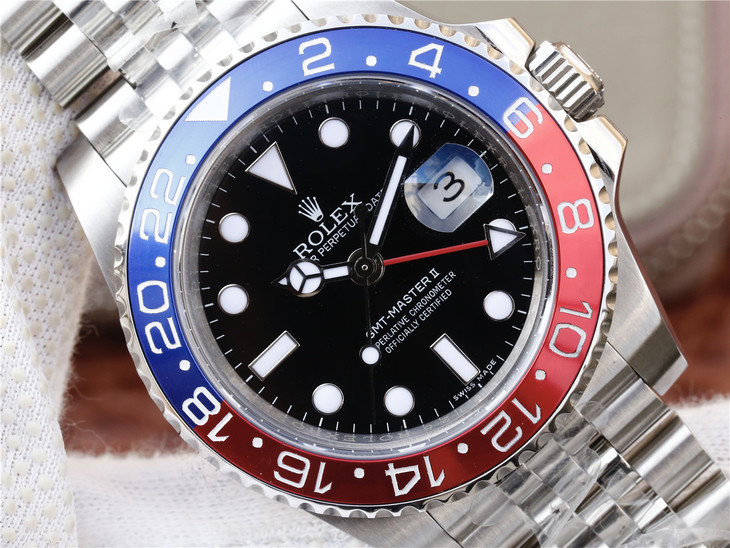 Replica Rolex GMT Master II 126710 Blue Red Bezel