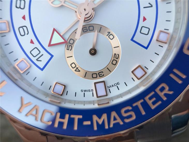Replica Rolex YachtMaster II 116681 Blue Bezel