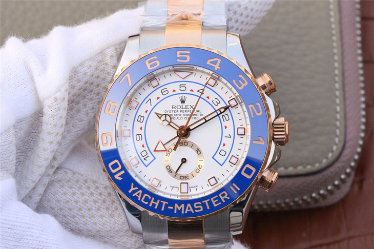 Replica Rolex YachtMaster II 116681 Two Tone