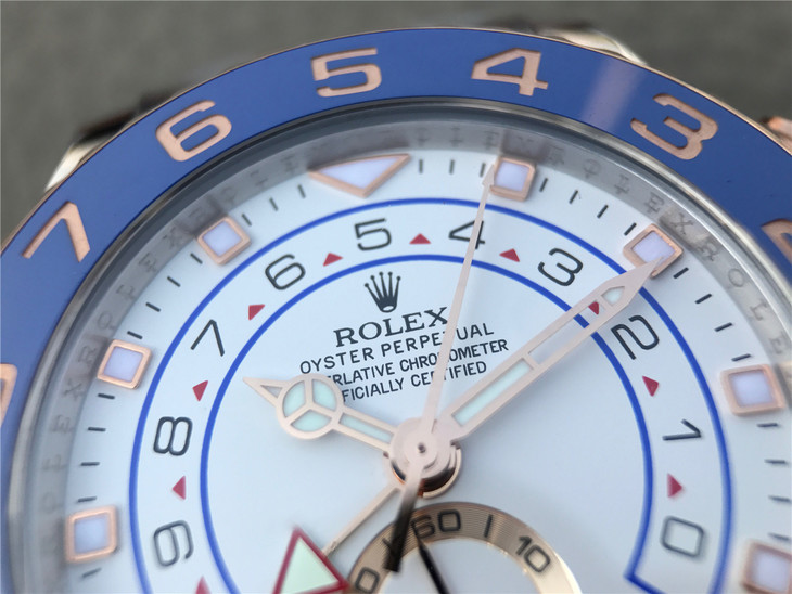 Replica Rolex YachtMaster II 116681 White Dial