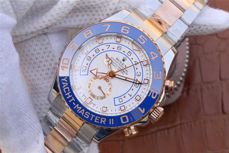 Replica Rolex YachtMaster II Rose Gold