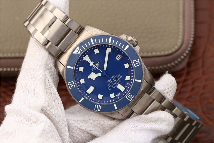 Replica Tudor Blue Pelagos Titanium Watch