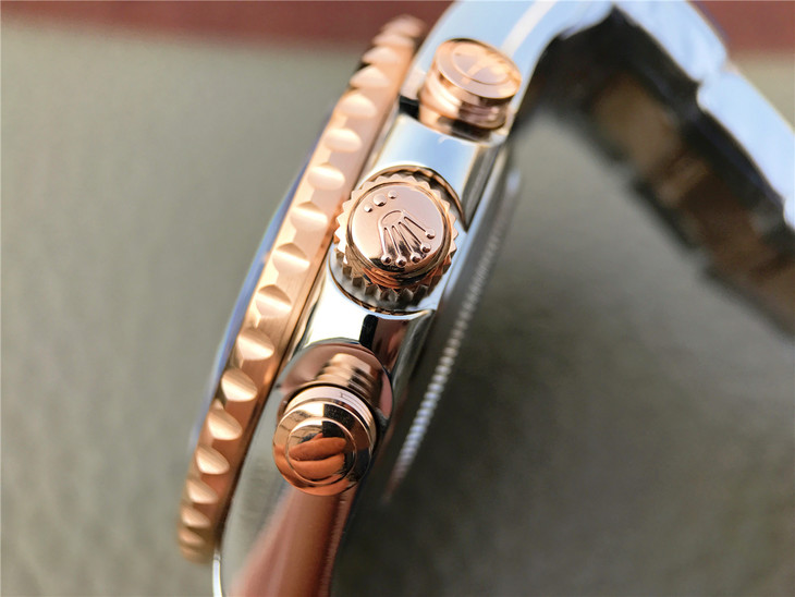 Rolex Rose Gold Crown and Buttons