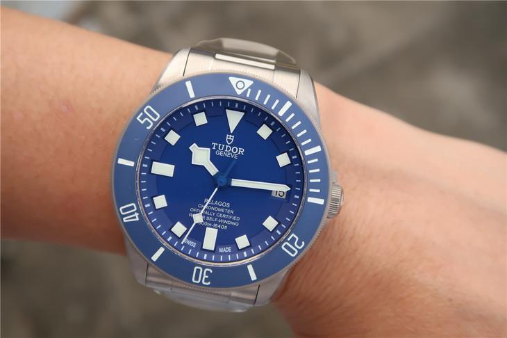 Tudor Blue Pelagos Wrist Shot