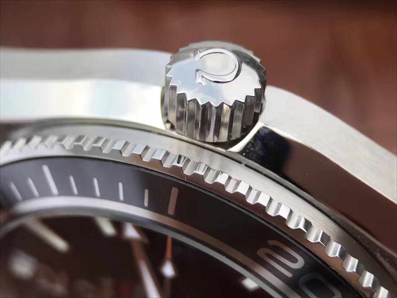 Omega Logo on Crown