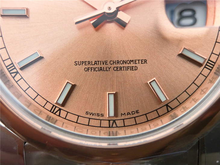 Rolex Datejust 116234 Rose Gold Dial