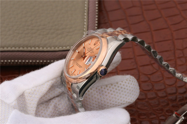 Rolex Datejust Rose Gold Crown