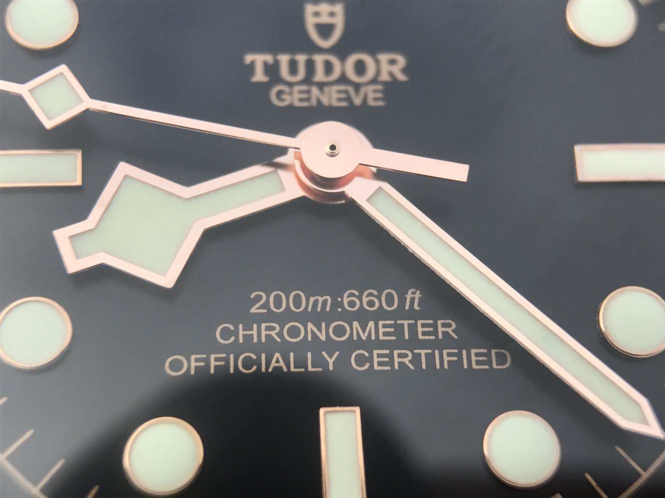 Tudor Black Bay Rose Gold Hands