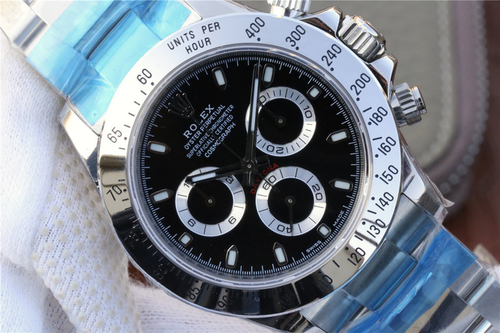 Noob Replica Rolex Daytona Black Dial