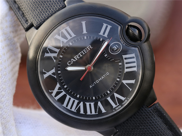 Replica Cartier Ballon Bleu Black Dial