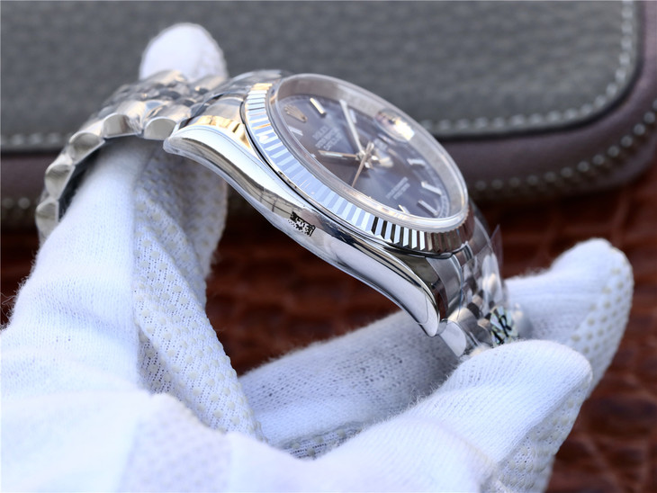 Replica Rolex 36mm Datejust 904L Steel Case