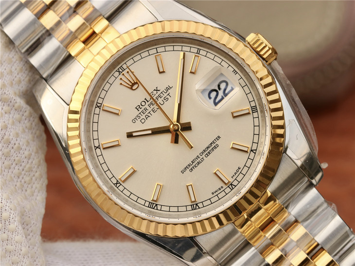 Replica Rolex 36mm Datejust Silver Dial