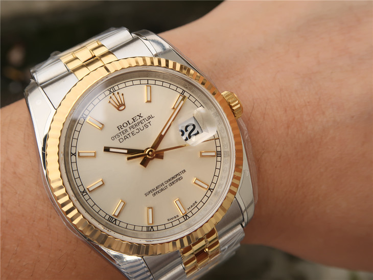 Replica Rolex Datejust 36mm Wrist Shot