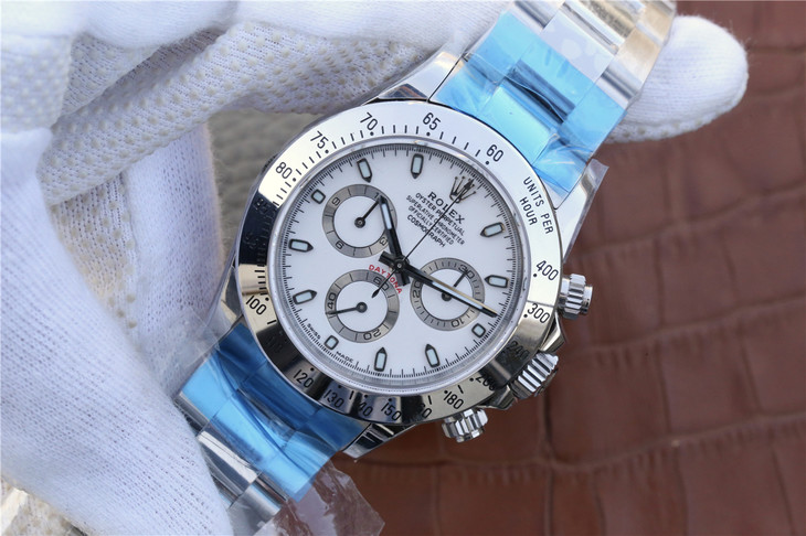 Replica Rolex Daytona Stainless Steel White