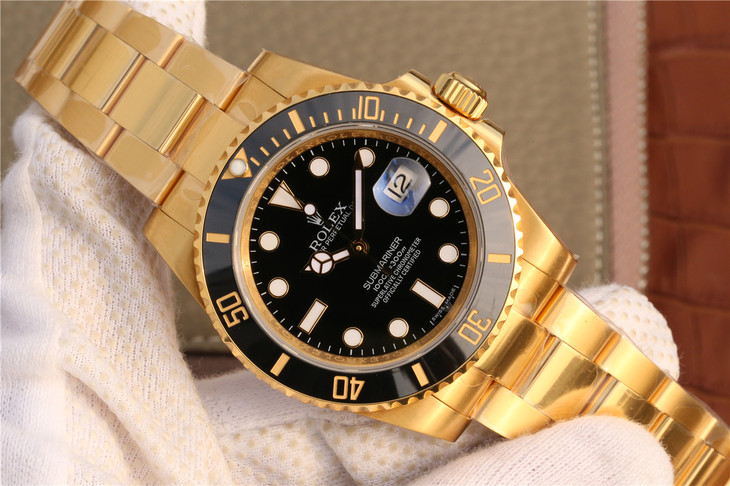 Replica Rolex Submariner Full Yellow Gold