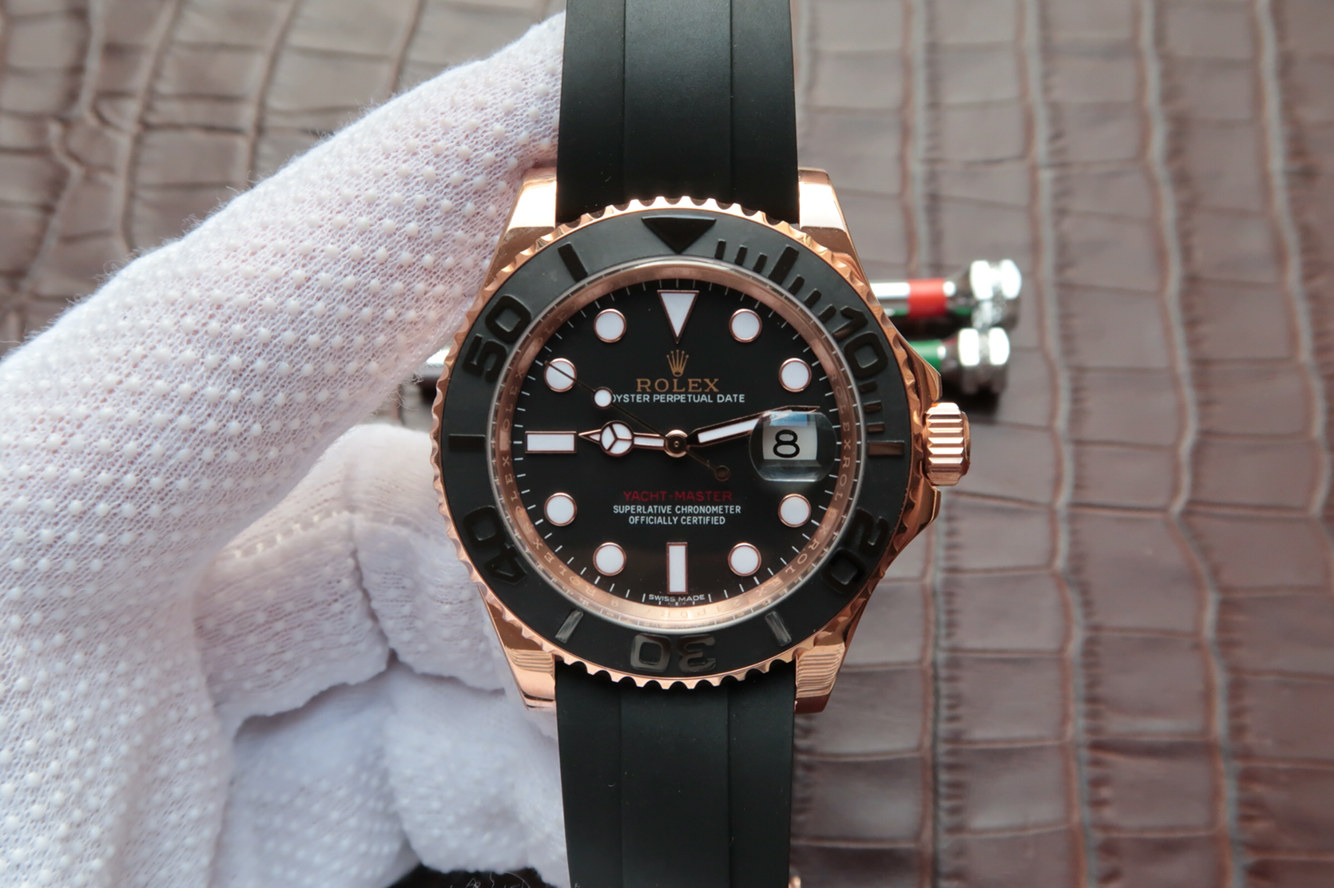 Replica Rolex YachtMaster Rose Gold