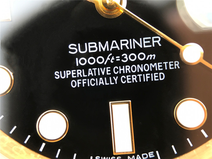 Submariner 116618 Dial Printings