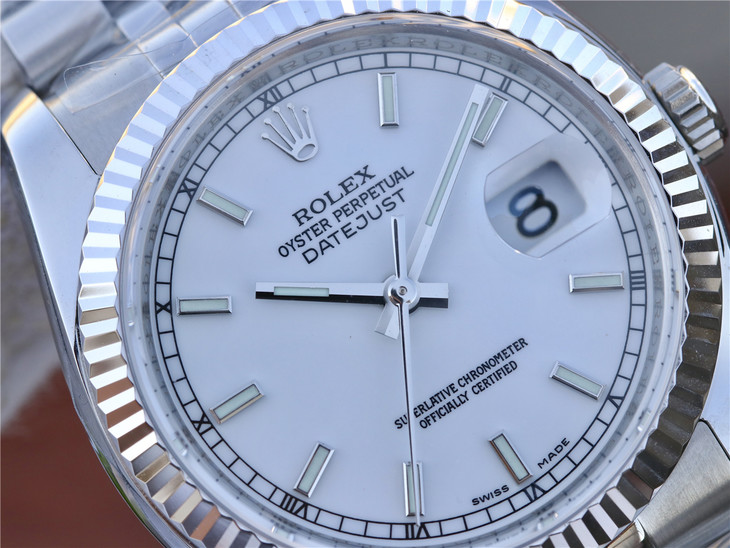 Replica Rolex Datejust White Pearl Dial