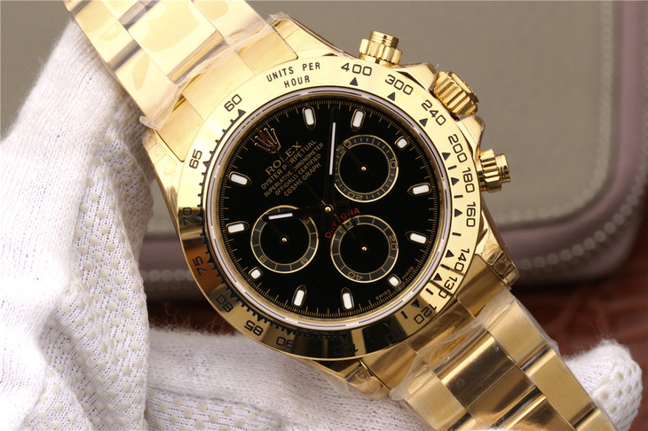 Replica Rolex Daytona Black Dial