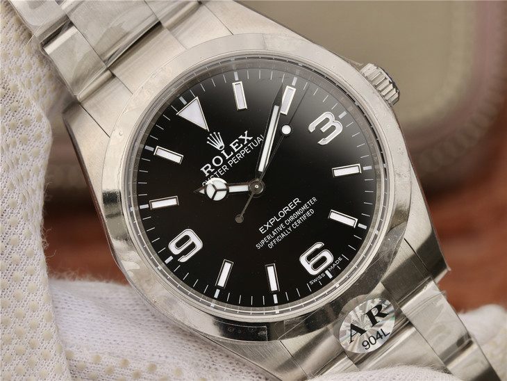 Replica Rolex Explorer I 214270 Black Dial