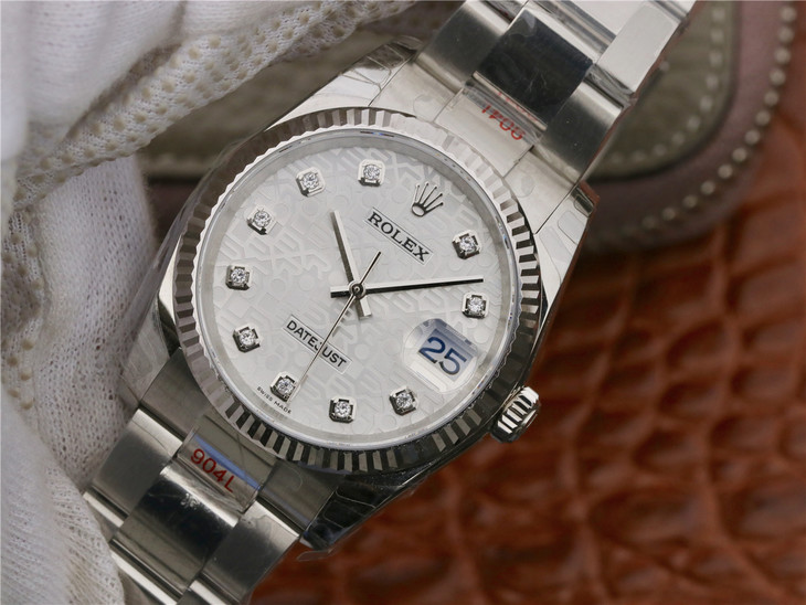 Rolex Datejust 36mm Silver Replica