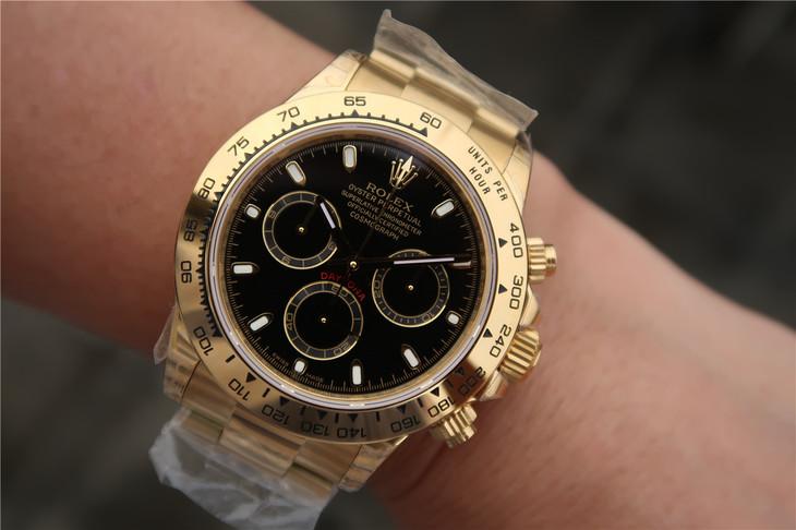 Rolex Daytona 116508 Gold Wrist Shot 2