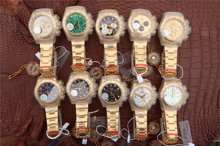 Rolex Daytona Full Yellow Gold Watch Collection
