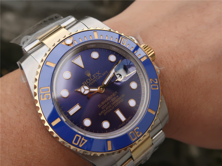 Rolex Submariner Two Tone 116613 on Wrist