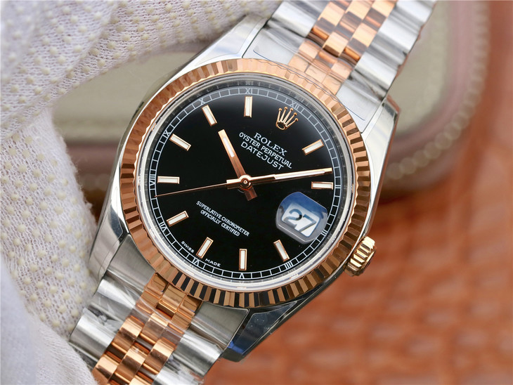 ARF Rolex Datejust Rose Gold Replica