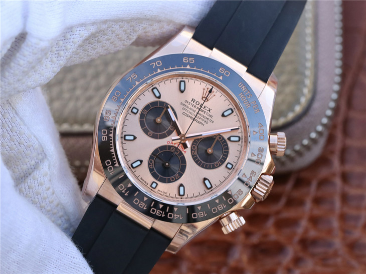 Noob Replica Rolex Daytona Rose Gold Watch