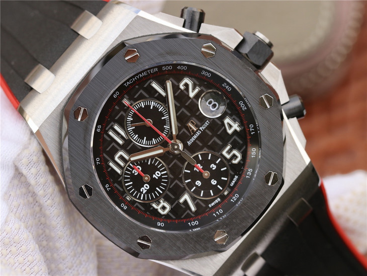 Replica Audemars Piguet Black Checkered Dial