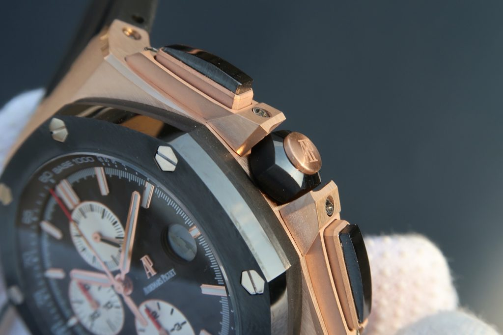 Replica Audemars Piguet Royal Oak Offshore Rose Gold Chronograph Buttons