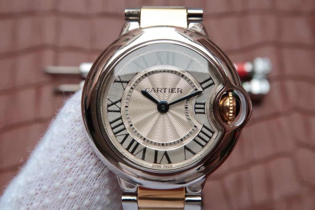 Replica Cartier 28mm Ballon Bleu White Dial