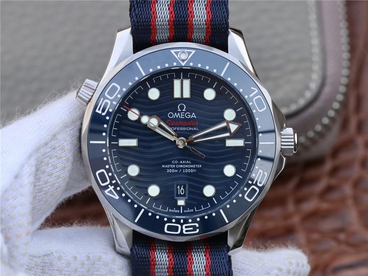 Replica Omega Seamaster 300m Diver Blue