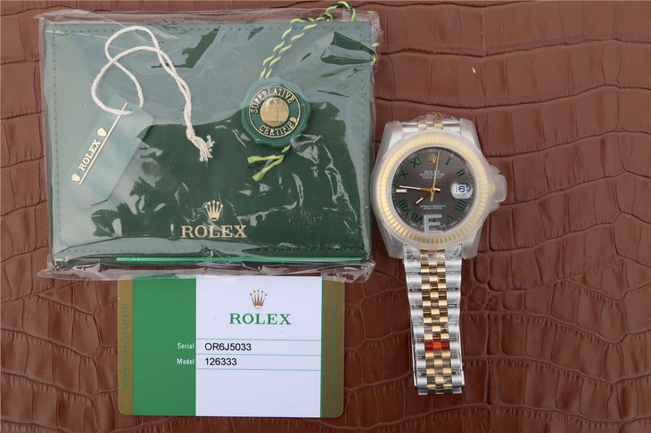 Replica Rolex Datejust II 126333 with Card