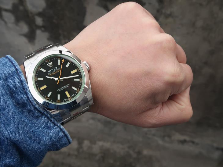 Replica Rolex Milgauss 116400 Wrist Shot