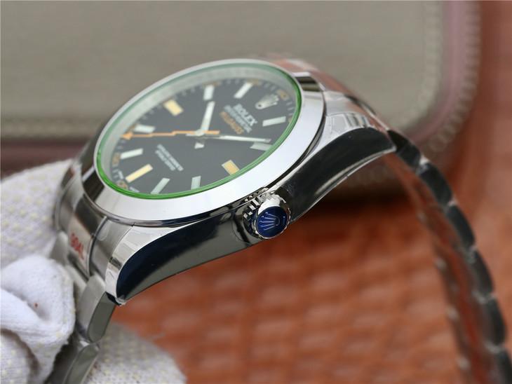 Replica Rolex Milgauss Round Polished Bezel