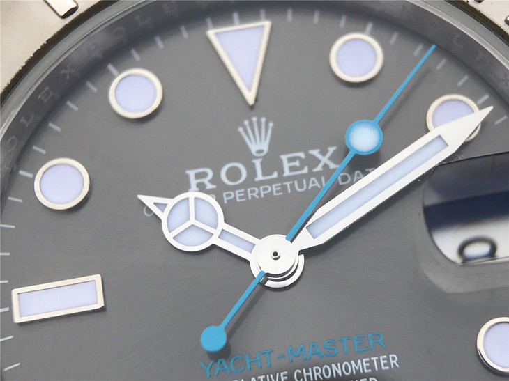 Replica Rolex YachtMaster Blue Second Hand