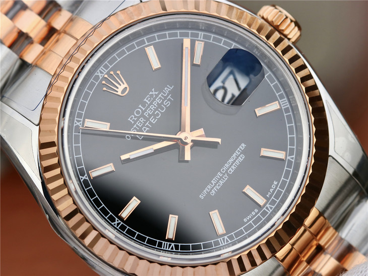 Rolex Datejust Two Tone Black Dial