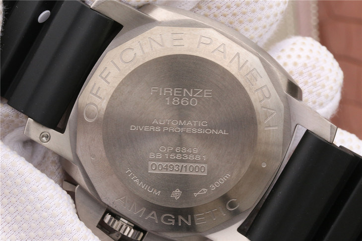 PAM 389 Case Back Engravings