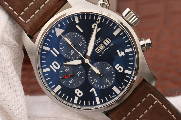 Replica IWC Pilot Chrono Blue Dial