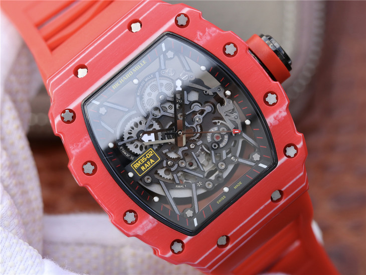 Replica Richard Mille Red Skeleton Dial