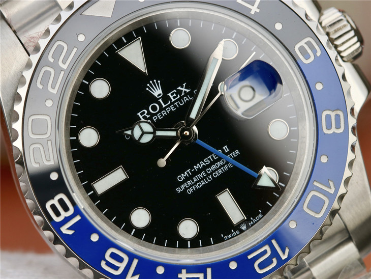 Replica Rolex GMT-Master II Black Blue Ceramic Bezel