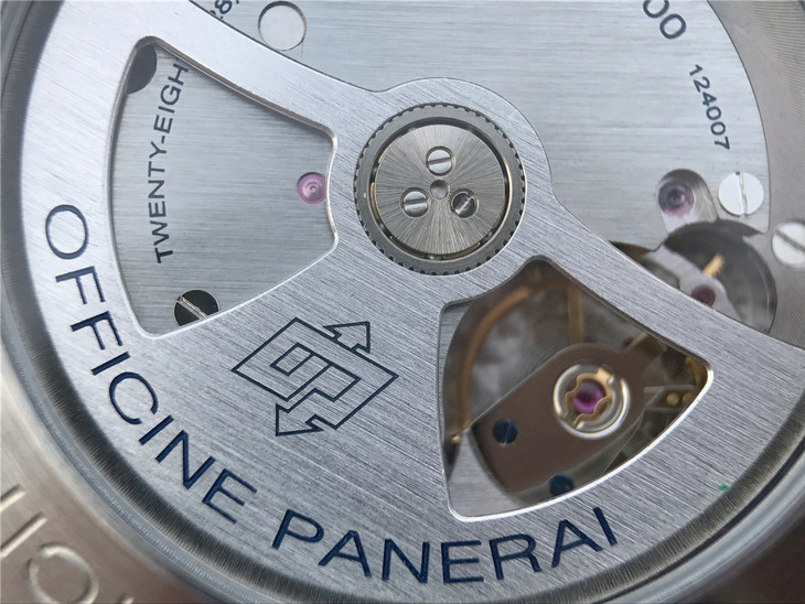 Blue Engravings on Panerai Rotor