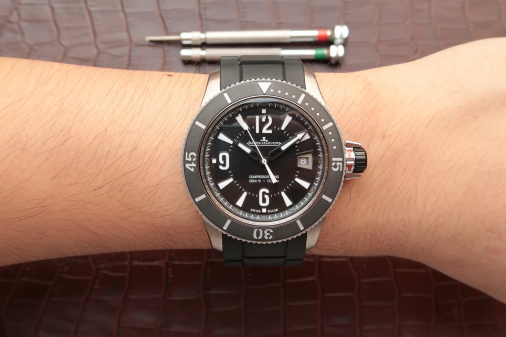 Jaeger LeCoultre Diving Watch Wrist Shot